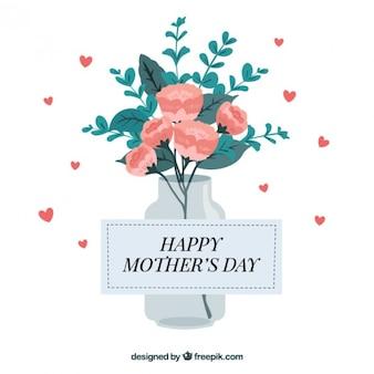 Bukiet kwiatów wzór na dzień matki