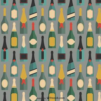 Butelki szampana wzór