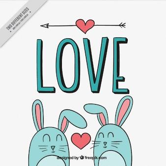 Całkiem tła z królików w miłości