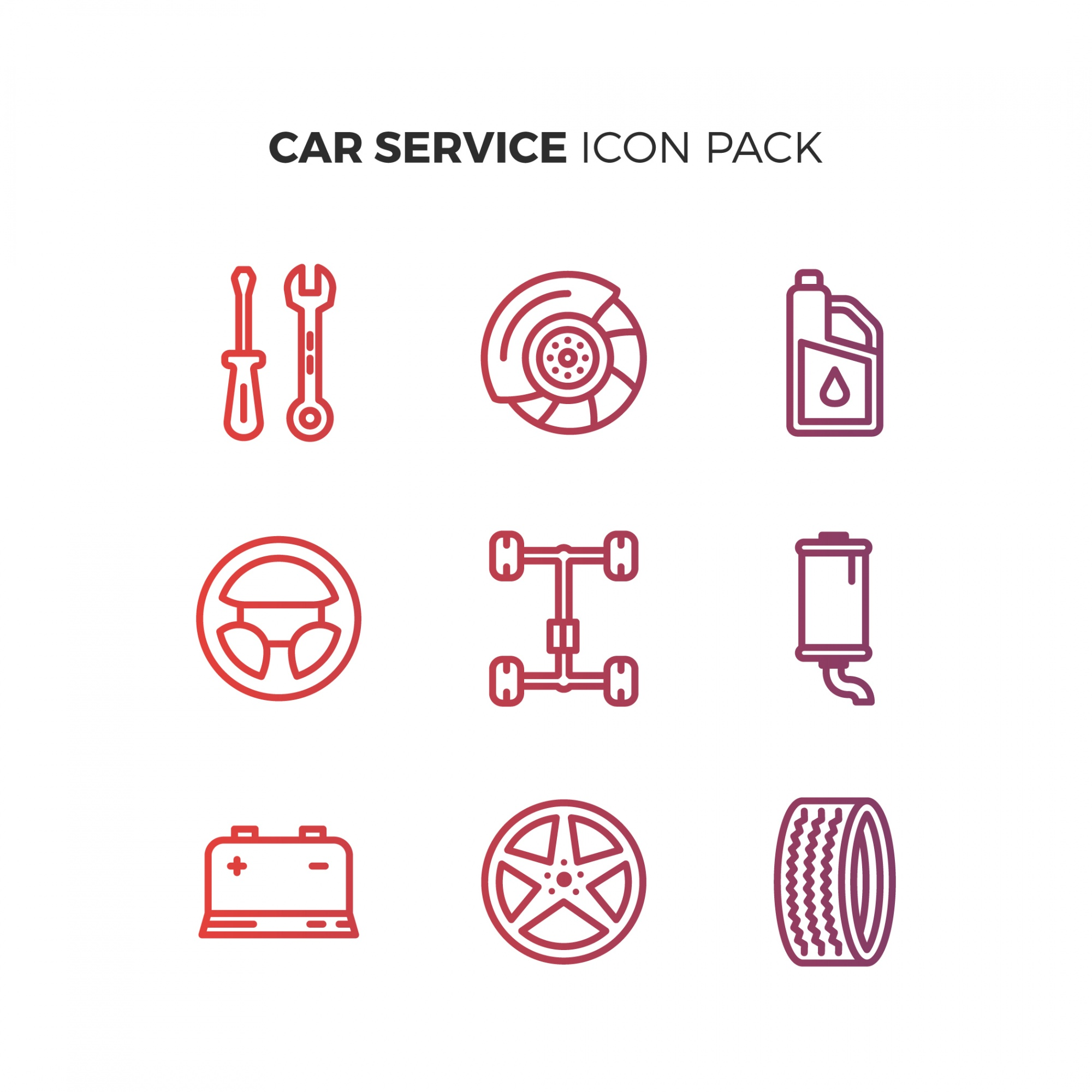 Car Serious Icon Pack