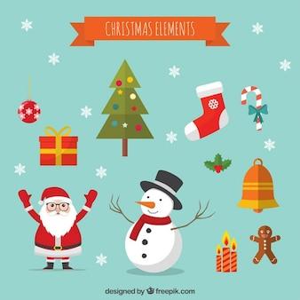Cartoon Boże Narodzenie elementy dekoracji