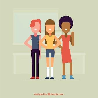 Cartoon kobiety