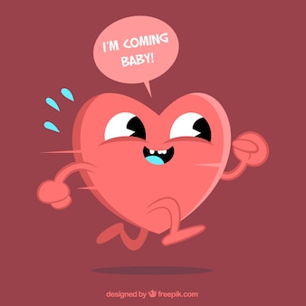 Cartoon zabawny serce