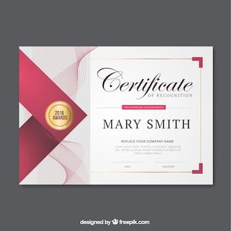 Certyfikat Abstrakcyjne linie