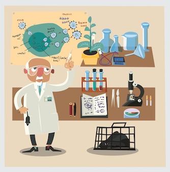 Chemicznych znaków i rur ilustracji wektorowych