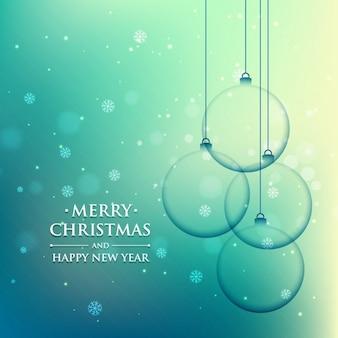 Christmas piłkę w kolorze turkusowym tle