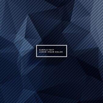 Ciemne niebieskie tło z abstrakcyjnych kształtów