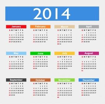 Collourfull kalendarz 2014