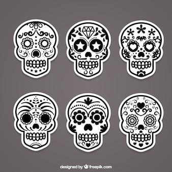 Cukru czaszki etykiety