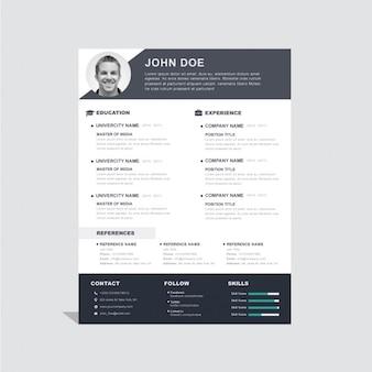 Curriculum vitae template korporacyjny