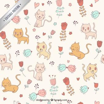Cute cats wzór
