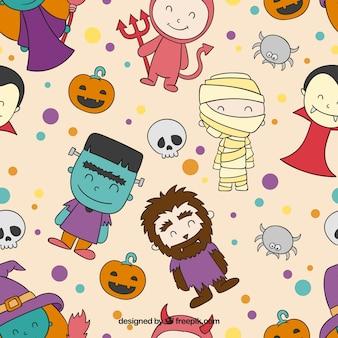 Cute Halloween znaków wzór
