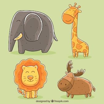 Cute kolekcji zwierząt