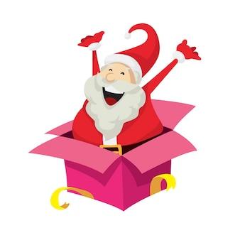 Cute Santa Claus Charakter Niespodzianka