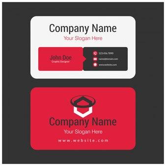 Czarna, biała i czerwona wizytówka