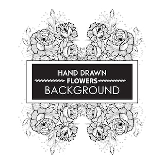Czarno-biała Rączka Rama Kwiatu