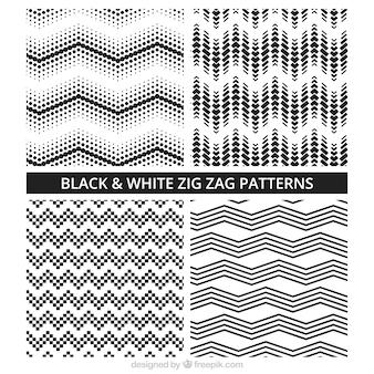 Czarno-biały wzór Kolekcja Zig Zag