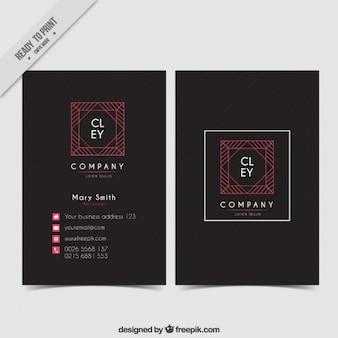 Czarny korporacyjnych kart