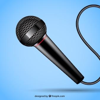 Czarny mikrofon