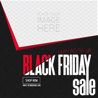 Czarny piątek miejsce karty Sprzedaż w obrazie