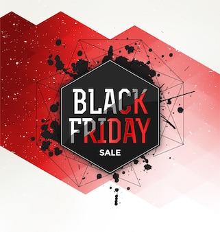 Czarny Piątek Sprzedaż Typografii Projekt