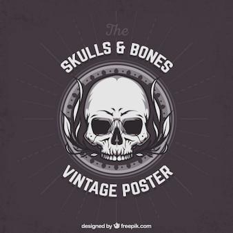 Czaszka i kości Plakat