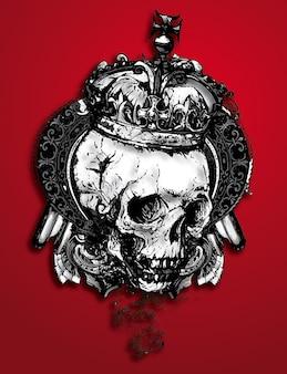 czaszka w koronie