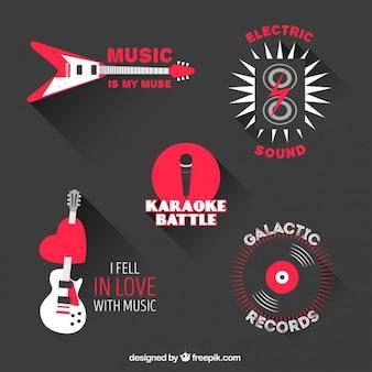 Czerwone elementy muzyki