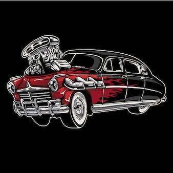 Czerwone tło samochodu