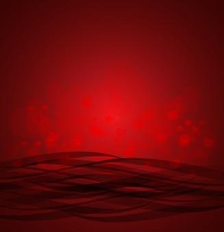 czerwonym tle serca