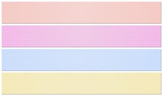 Cztery szablonu baneru z czterema kolorami kartonów