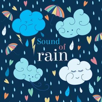 Dźwięk tle deszcz