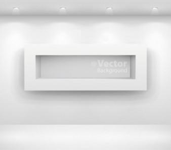 Darmowa Galeria wektor tło wyświetlacza muzeum jasne światło biały srebrny mur