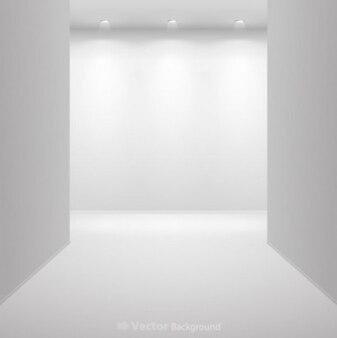 Darmowe muzeum jasne światło biały kwadrat ściany srebrny galeria sztuki wyświetlacz wektora tle