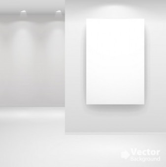 Darmowe muzeum jasne światło biały kwadrat ściany srebrny pokaż galerię wektora tle