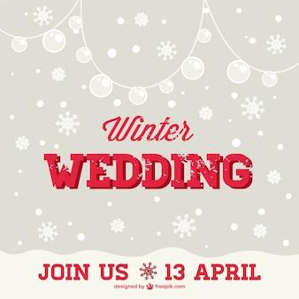 Darmowe zaproszenie zima ślub
