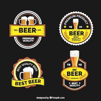 Dekoracyjne naklejki piwa w stylu vintage