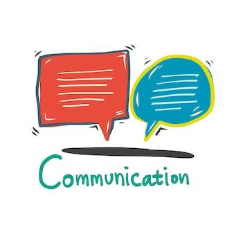 Doodle speech bubble communication