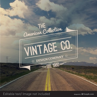 Droga znaczek styl vintage