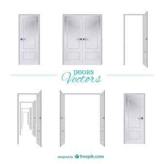 Drzwi elementy graficzne wektorowe