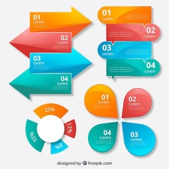 Duża kolekcja elementów infograficznych