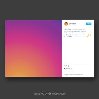 Duża ramka instagramu