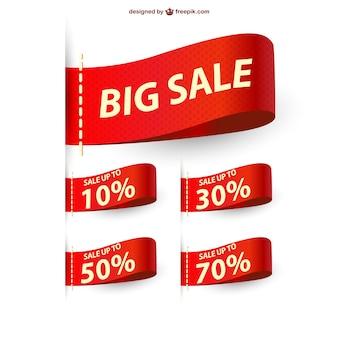 Duże wstążki sprzedaż sprzedaż