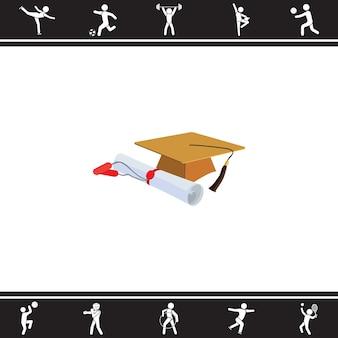 Dyplom ukończenia studiów. ilustracji wektorowych