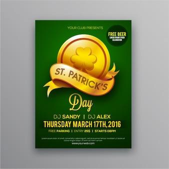 Dzień Świętego Patryka broszura ze złotą monetą