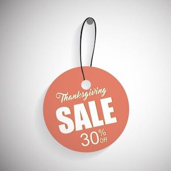 Dzień Dziękczynienia Sprzedaż Price Tag