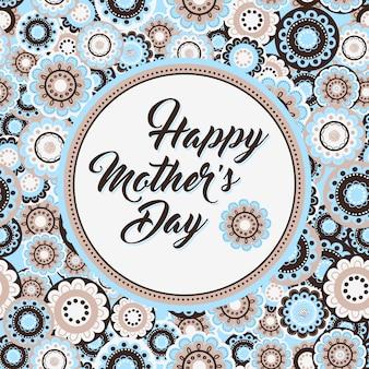 Dzień matki z kwiatem patter