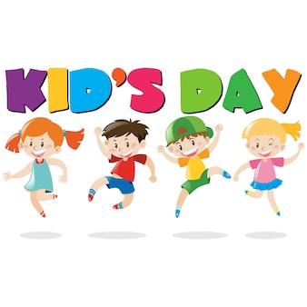 Dziecięcy dzień tła