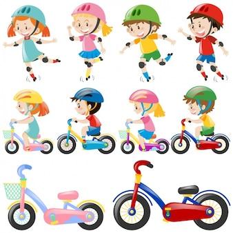Dzieci bawiące się wzory