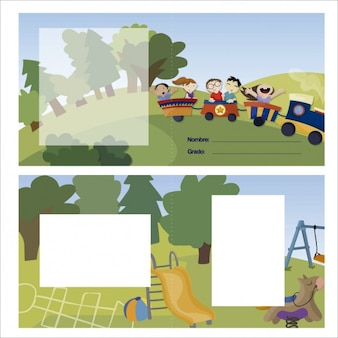 Dziecinne karty Projektowanie